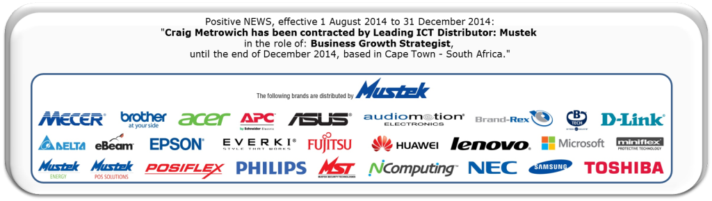 Craig Metrowich_Business Growth Strategist_ Contracted to_MUSTEK_2014_