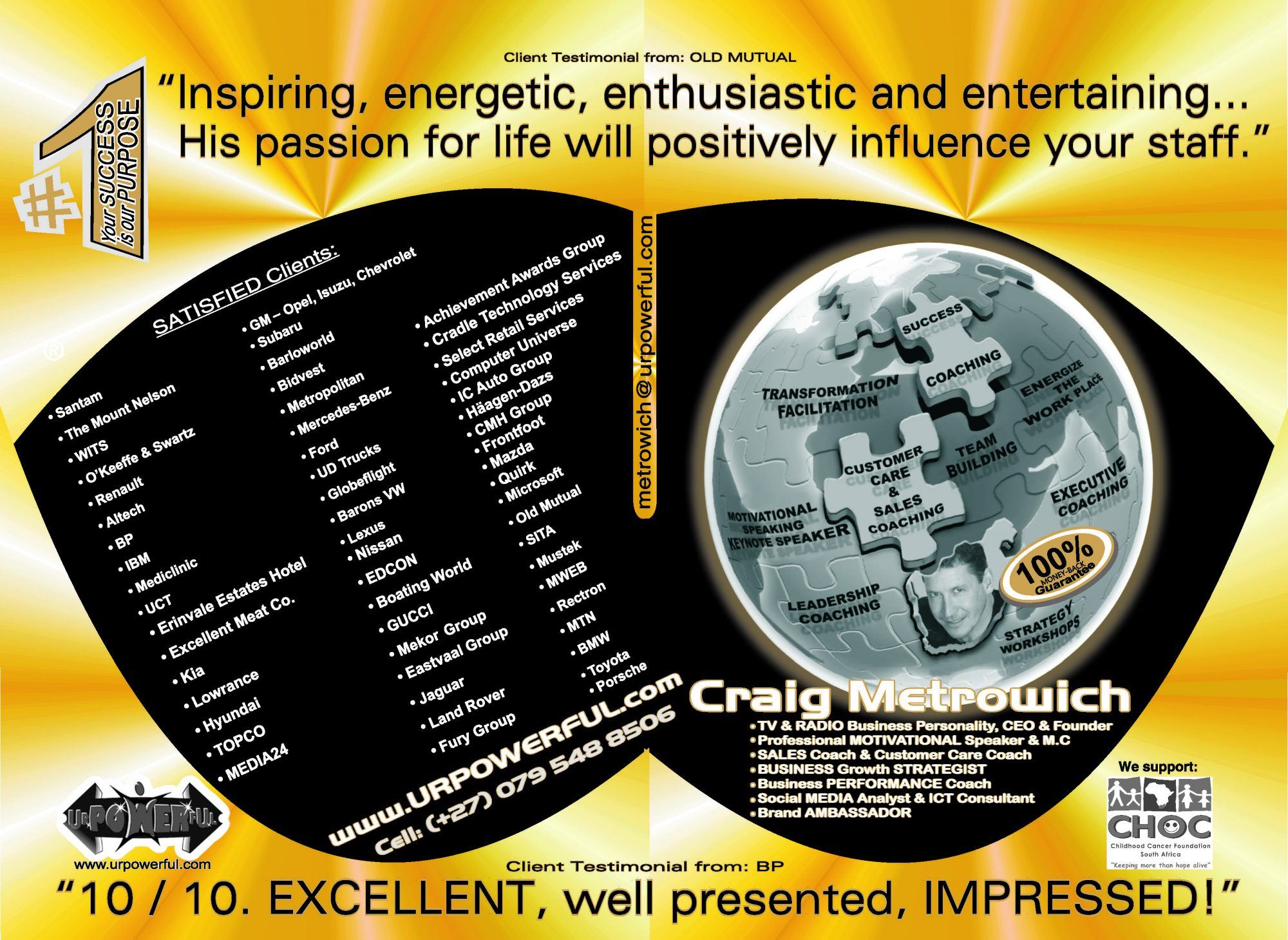 urpowerful.com - U R POWERFUL Coaching Craig Metrowich